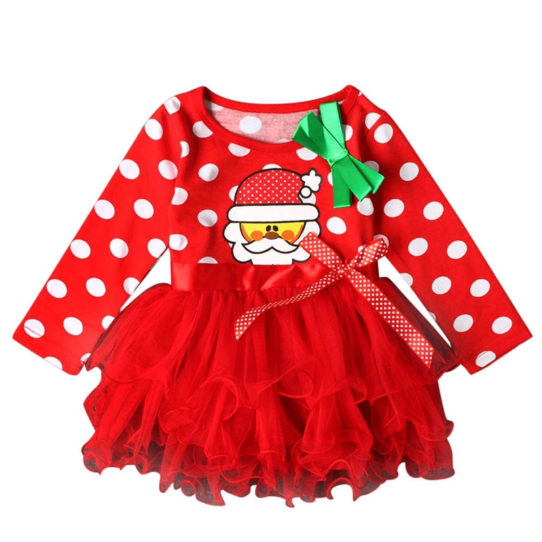 85d73f6f32c48 1-5 Age Fille Noel Costume Mere Noel Enfant Noel Deguisement Pere Noel Mni  Robe