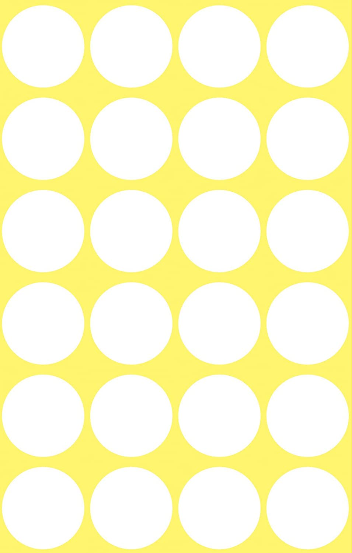 s - Etiqueta autoadhesiva 96 pieza Avery 3170 C/írculo Color blanco 96pieza Color blanco, C/írculo, Papel, 1,8 cm, 24 pieza s s