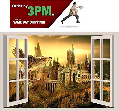 Hogwarts Harry Potter 3D Window View Decal Graphic WALL STICKER