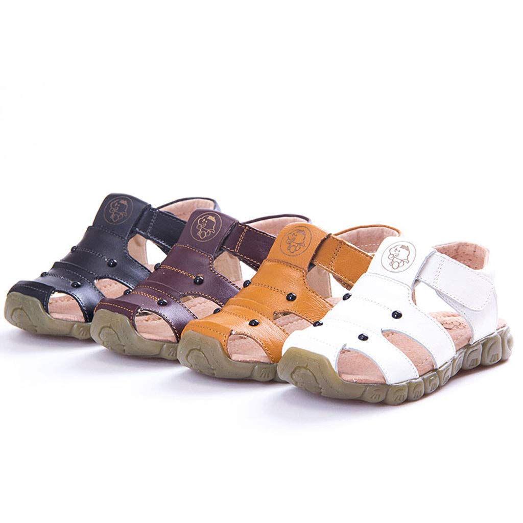 Baby Toddler Boys Girls Soft Closed Toe Fishman Beach Sandals 1-9 Years Old Kids Children Leather Casual Shoes