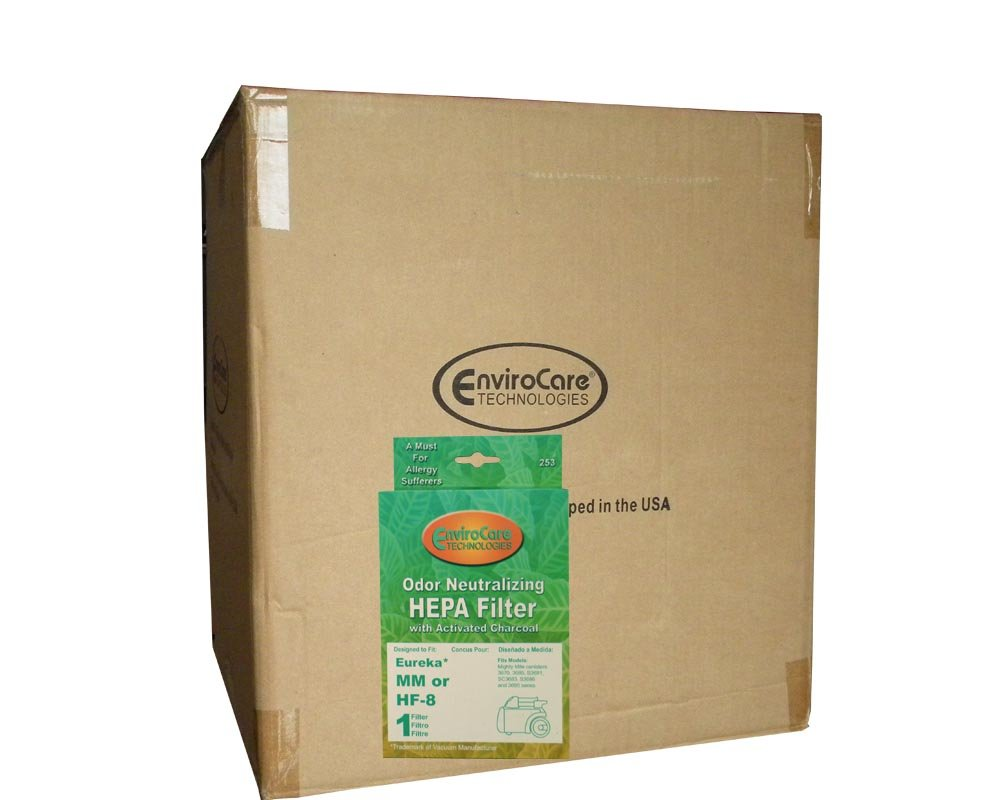 1/2 Case (12 pkgs) Eureka Sanitaire HEPA HF8 Vacuum Filters Pet Lover Sanitaire Commercial Canister 60666B