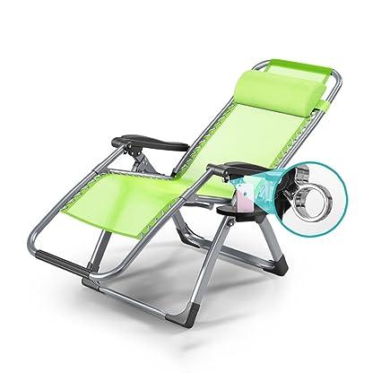 Amazing Chaise longue con portavasos y bandeja plegable de múltiples funciones Silla plegable individual ajustable Lunch