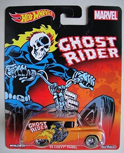 55 Chevy Body (HOT WHEELS MARVEL GHOST RIDER ORANGE '55 CHEVY PANEL)