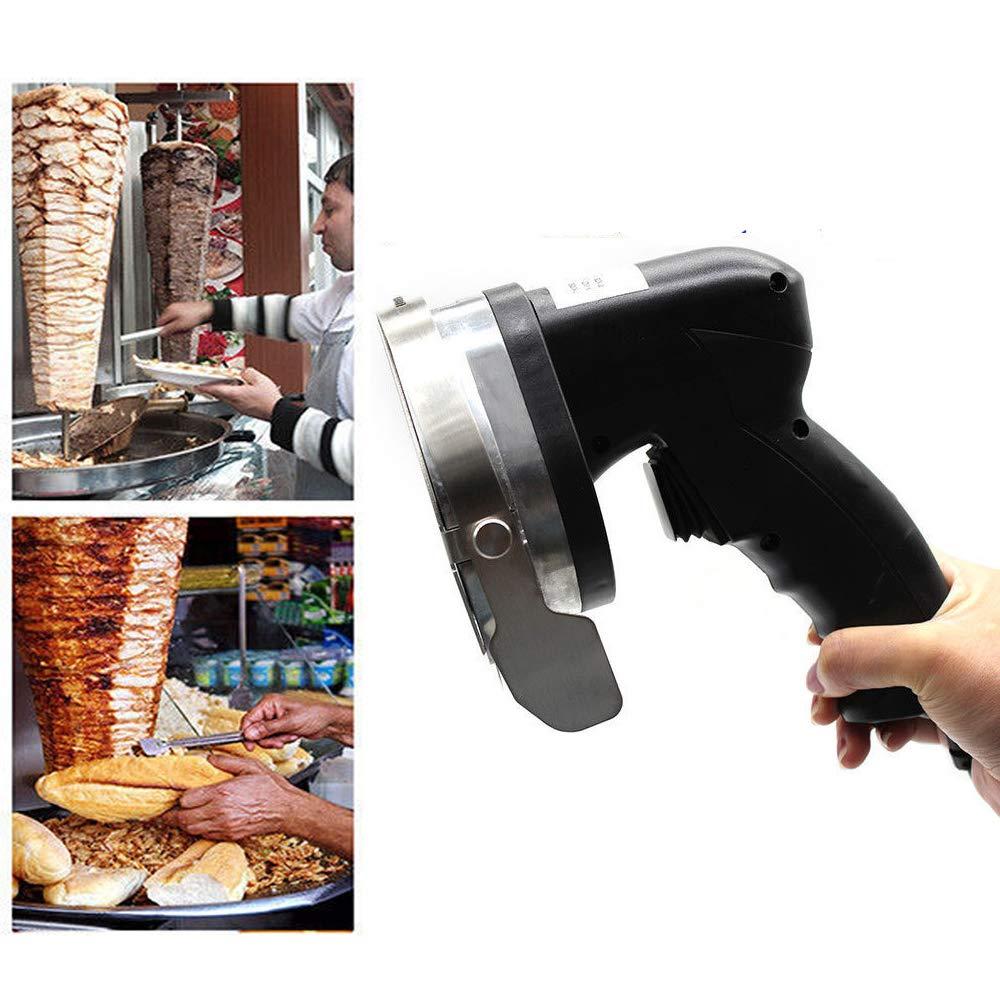 Electric Kebab Knife,110V 80W Professional Commercial Electric Shawarma Doner Kebab Knife Cutter Gyros Slicer Kebab Knife 2 Blades (USA Stock) by SHZICMY (Image #1)