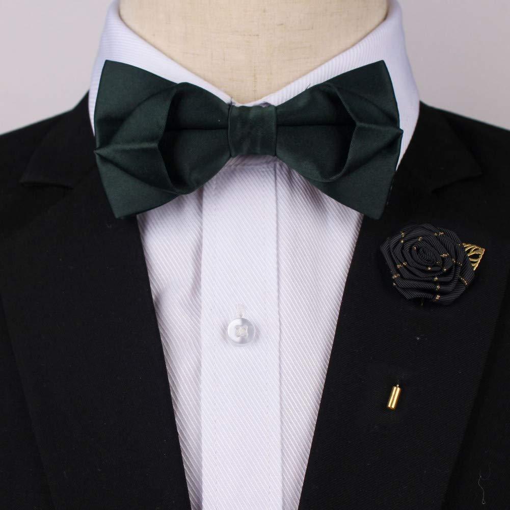 Corbata de moño Pajarita de seda Broche de corbata Traje El ...