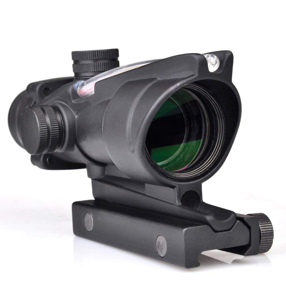 SEIGNEER ACOG Style4x32 Fiber Source Red Scumined Scope Optics Red Dot BDC