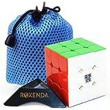 MoYu Aolong V2 Magic Cube Édition améliorée Noir 3 x 3 carrés par Roxenda (Stickerless)