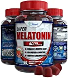 Melatonin Gummies 5mg Chewable Gummy Great for Adults and Kids Instant Release Sleeping Pills Supplement Works Over Time for Use As Childrens Sleep Aid Use 2.5mg for Kids 4 and up. 5 mg for Teens