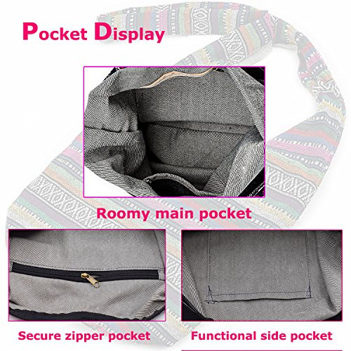 Bags Top Sling Hobo Shopping Crossbody Bags Line WITERY Large Zip Bag Bag Violet Shoulder Messenger Women's Handmade Wallet Handbag Av7Ww1qfH