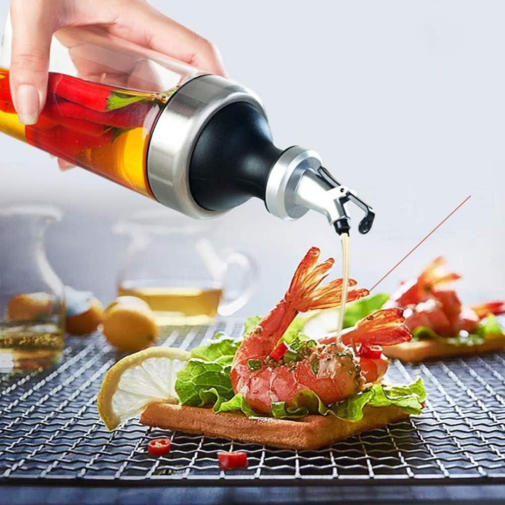 /Ölspender aus Edelstahl und Glas Oliven/ölspender Flasche Beh/älter f/ür K/üche Pasta Kochen Essig /& /Ölflasche Grillen 600 ml /Öl Spender zur Herstellung Auslaufsicher und Sp/ülmaschinenfest BBQ