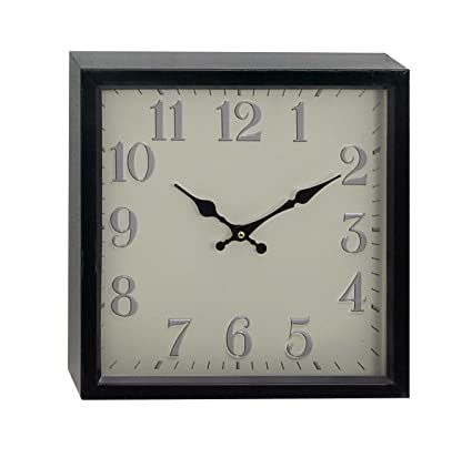 Buy Deco 79 90747 Wall Clock, Brown/White Online at Low Prices in ...