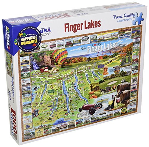 White Mountain Puzzles Finger Lakes - 1000 Piece Jigsaw Puzzle