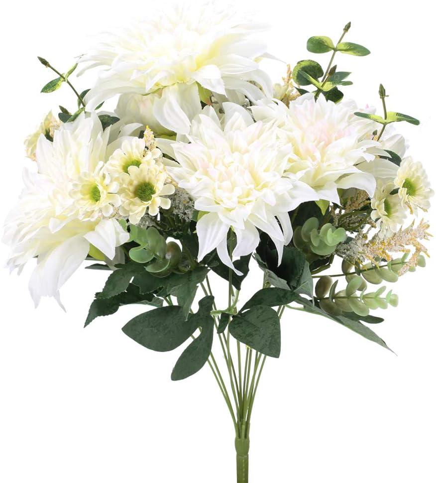 XHXSTORE Bouquet Fiori Artificiali in Seta Bouquet Fiori Finti da Interno Esterno Mazzi Fiori Artificiali per Decorazioni di Casa Ufficio Matrimoni