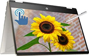 "HP Pavilion x360 Convertible 2 in 1 Laptop Computer, 14"" FHD IPS Touchscreen, 8th Gen Intel Quad-Core i5-8265U 1.6GHz, 32GB DDR4 2TB SSD + 1TB HDD, Backlit KB Fingerprint USB-C WiFi HDMI Pen Win 10"