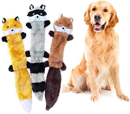 For Dog Toy Play Funny Pet Puppy Chew Squeaker Squeaky Cute Plush Sound Toys 1X