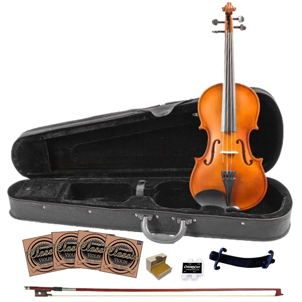 Rise by Sawtooth 3/4 Size Beginner's Violin with Flame Maple Back (ST-RISE-VFLAME-3/4)