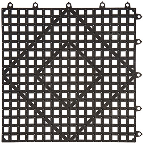 Winco BML-12K Interlocking Bar Mat, 12 by 12-Inch, Dark Smoke - Interlocking Bar Shelf Mat