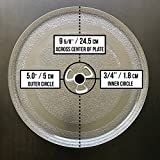 "Small 9.6"" / 24.5cm Microwave Glass Plate/Microwave Glass Turntable Plate Replacement - For Small Microwaves"
