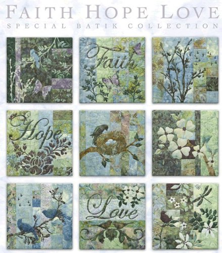 McKenna Ryan Pine Needles Faith Love Hope Quilt Pattern Set of 9 by Pine Needles (Image #1)