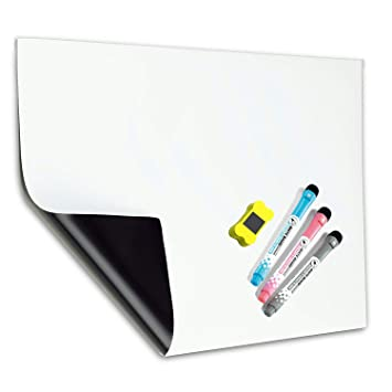 A3 Pizarra Magnética Tablero Blanco de MZMing-Refrigerador Pizarra Magnética de Cocina Lista de Compras Adecuado para Niños Adultos Fácil de Escribir ...