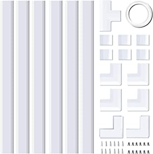 Upgraded Cable Concealer, PVC Cord Cover, 94.5in Paintable Cord Hider to Hide Wires for TV and Computers in Home Office,6X L15.7in W0.99in H0.51in, CC02-Medium, White