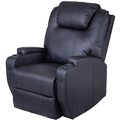 Tangkula Electric Massage Recliner Chair Sofa PU Leather Padded Massage  Chair Power Lift Recliner Heated Vibration