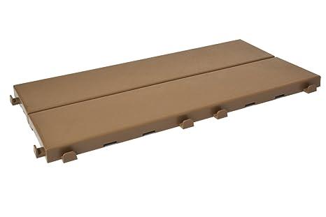 Piastrelle in plastica con finitura ad effetto legno 37 7 x 18 6 cm