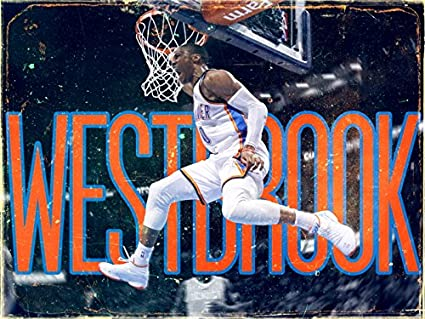 amazon com russell westbrook dunk awesome vintage painting art