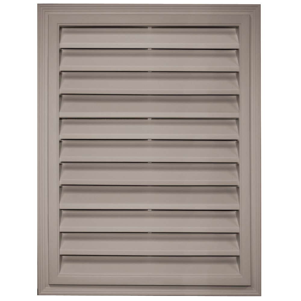 Builders Edge 120061824008 18'' x 24'' Rectangular Vent 008, Clay
