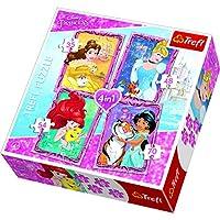 Puzzle 4w1 Z przyjaciólmi Disney Princess