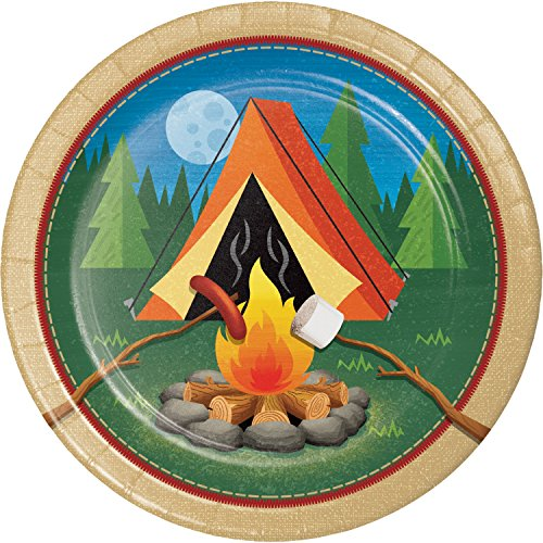 Camping Paper Plates, 24 ct (Camp Themed Paper Plates)