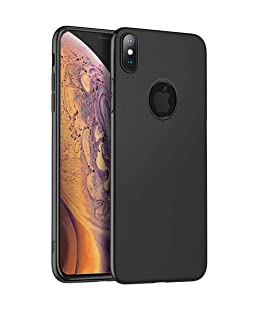 Qbit HOCO iPhone X [Black + Protective Back] Case Cover Slim Lightweight Fascination Series  iPhone X/XS Back Cover Case