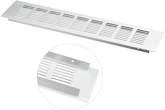 BLANC Grille de ventilation 100x400mm Grille da/ération en aluminium ra1040
