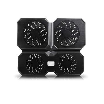 Estante de enfriamiento de la computadora portátil del radiador Grande silencioso de Alta Velocidad del Ordenador portátil del Ventilador de 15,6 Pulgadas ...