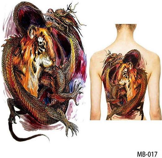 tzxdbh 2Pcs-Big Large Back Back Pecho Tatuaje Grande Tatuaje ...