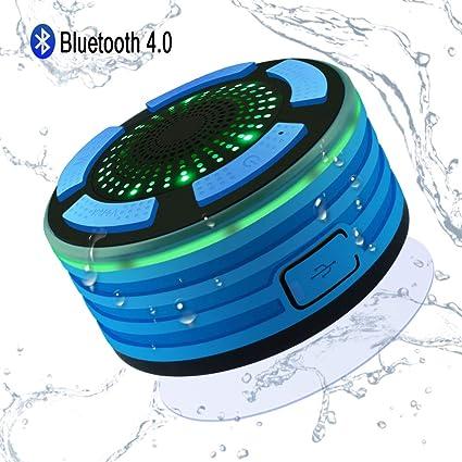 Altavoz Bluetooth Ducha Inalámbrico Impermeable IPX7, Alitoo ...