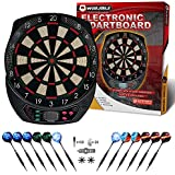 WIN.MAX Electronic Dart Board,Soft Tip Dartboard Set LCD Display with 12 Darts, 40 Tips, Power Adapter