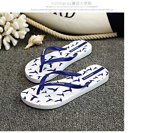pour Les coloré 42 Femmes Modèle Flops Clip Casual Flip Fuxitoggo Blanc Flat Summer Taille Beach EU Toe Blanc wpFzPq