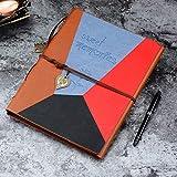 ZEEYUAN Scrapbook Album Leather Scrapbook Travle