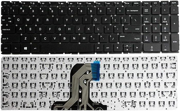 GinTai US Keyboard Black Replacement for HP Pavilion 15-ba008ca 15-ba009cy 15-ba009dx 15-ba012cy 15-ba013cl 15-ba013cy 15-ba079dx 15-ba081nr 15-ba082nr 15-ba049ca 15-ba051wm