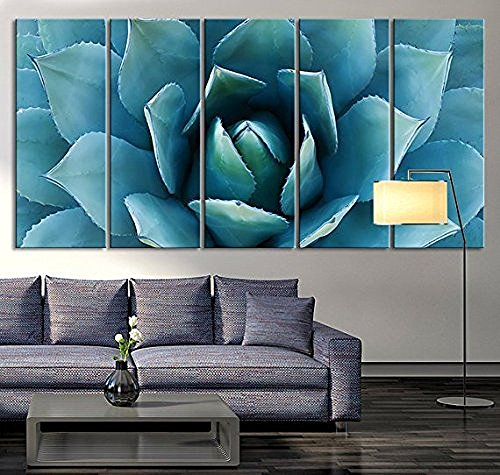 tanda large wall art blue agave canvas prints agave flower large art canvas printing extra large. Black Bedroom Furniture Sets. Home Design Ideas