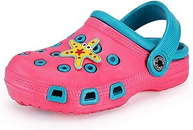 Zuecos Mulas para niños pequeños niñas Sandalias Zapatillas de Playa Zuecos de jardín Zapatos de Piscina Chanclas de Verano,509 Redblue 35: Amazon.es: Zapatos y complementos