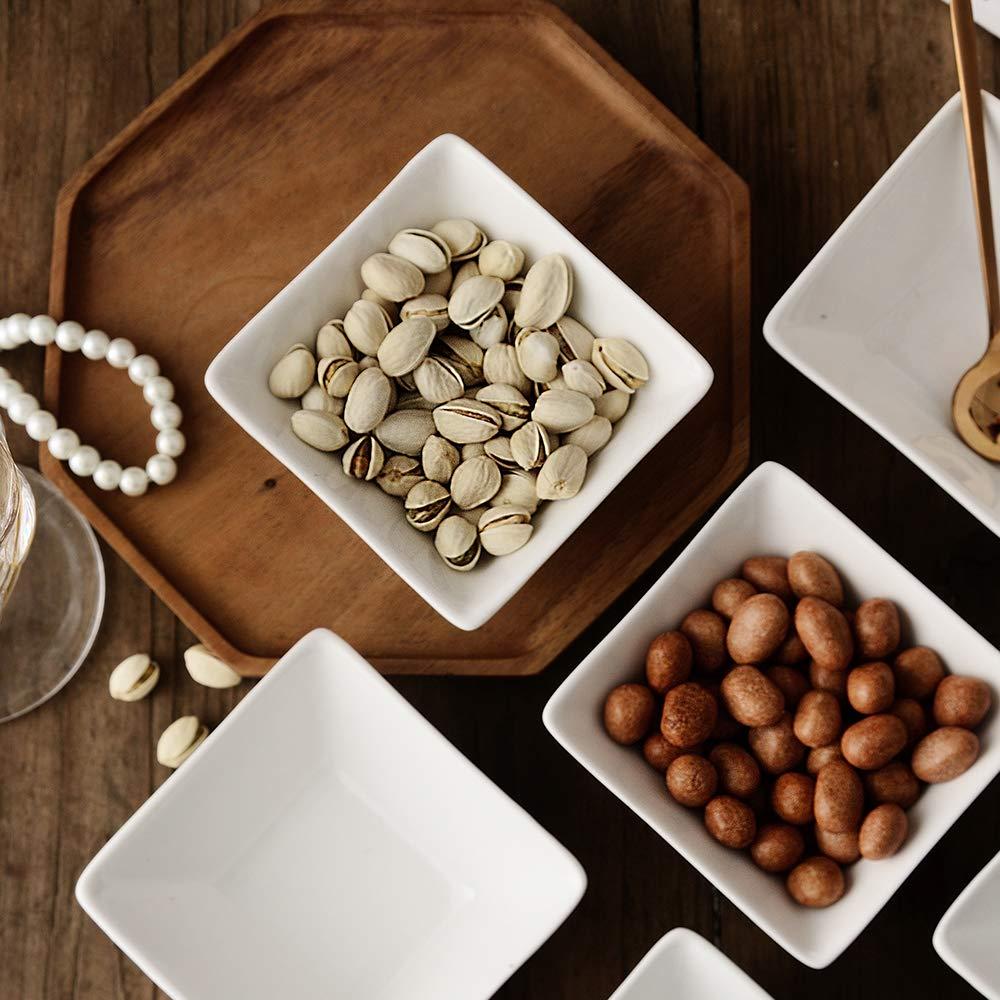 Dessert Bowls//condiment bowls//Ceramic Dip Bowls//Custard Dish// Pudding cups// souffle dishes 6 oz White UIBFCWN Square Porcelain Ramekins mini Square Appetizer Bowls Set of 6