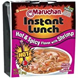 Maruchan HOT & SPICY FLAVOR with SHRIMP Instant Lunch 2.25oz (18 pack)