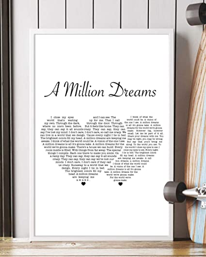 photo regarding A Million Dreams Lyrics Printable identify : Zindora Decor A Million Wishes Music Lyrics