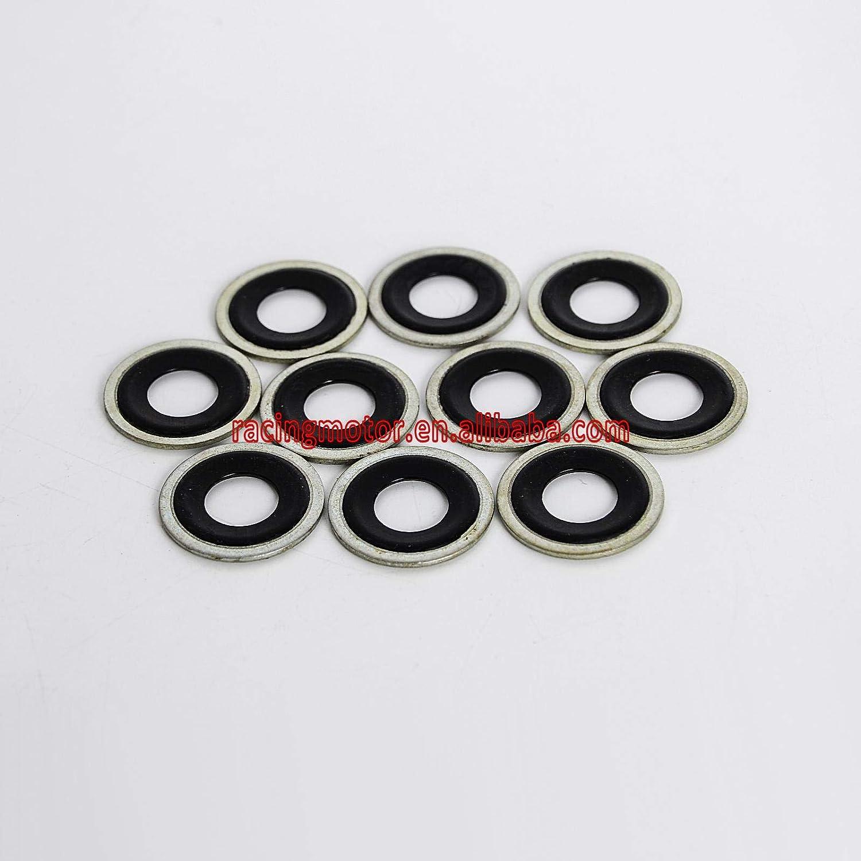 nhanh 10 PCS Metal /& Rubber Drain Plug Gasket 12MM 1//2 14079550