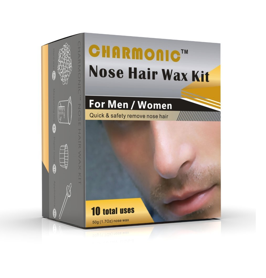Nose Wax Kit for Men and Women, Nose Hair Removal Wax (50 grams/10 times usage count)