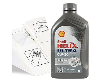 Shell Helix Ultra ECT C2/C3 0w-30 Aceite de motor totalmente sintético - 550042391 - Pack de repuesto: 1 litro.: Amazon.es: Coche y moto