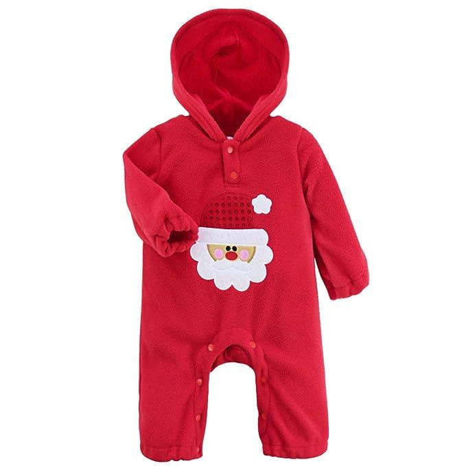 Freebily Pelele de Navidad para Bebé Niño Niña Unisex Mono Infantil Conjuno de Fiesta Bautizo para Recién Nacido: Amazon.es: Ropa y accesorios