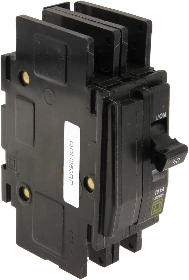 SQUARE D QOU260 2P Standard Circuit Breaker 60A 120//240VAC